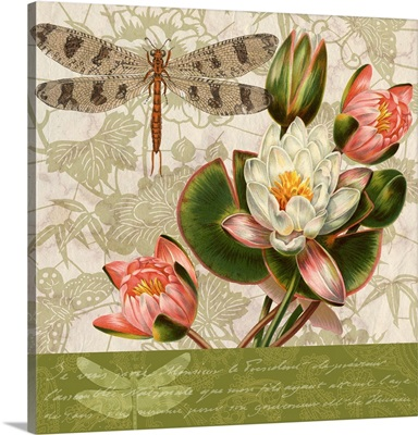 Dragonflies and Water Lilies III