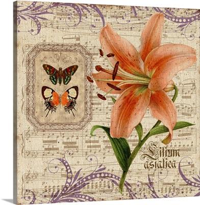 Peach Floral Botanical I