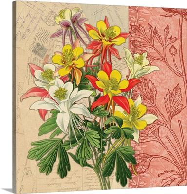 Woodcut Botanical I - Columbine