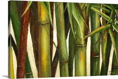 Bamboo on Beige I