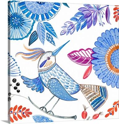 Bird With Flowers I