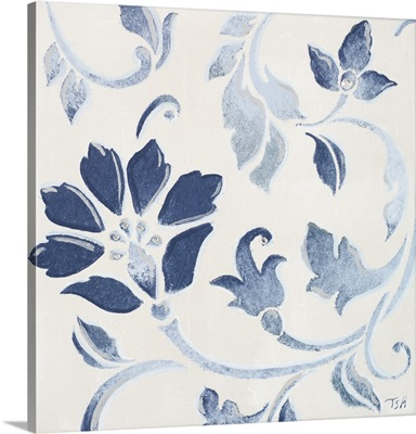 Blue Floral Shimmer I