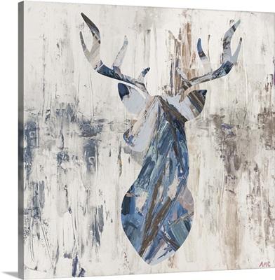 Blue Rhizome Deer Bust