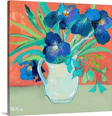 Blue Springtime Vase