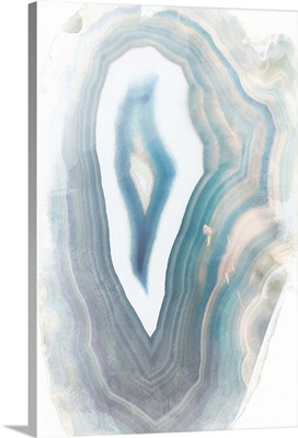 Blue Watercolor Agate Rectangle