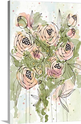 Blush and Green Floral