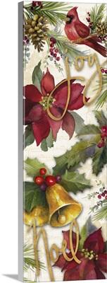 Christmas Poinsettia Panel I