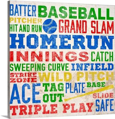 Colorful Baseball Typography