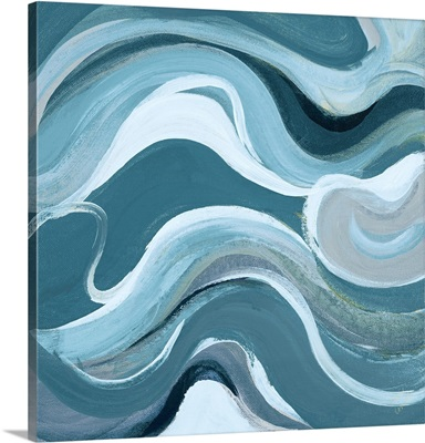 Curvilinear Bright Blue I