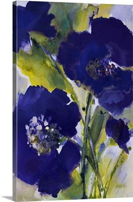 Dark Violetti Flowers II
