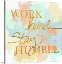 Dream Big and Work Hard Watercolor II