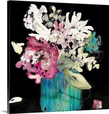 Flower Burst On Black II