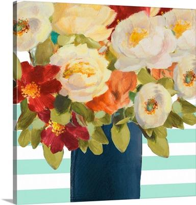 Flowers on Stripes I