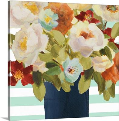 Flowers on Stripes II