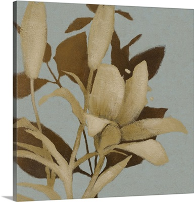 Foliage on Teal I