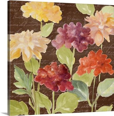 Fragrant Garden on Brown I