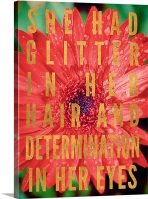 Glittery Flower II