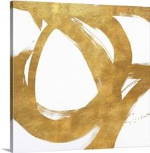 Gold Circular Strokes I