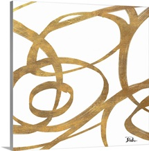 Golden Swirls Square I