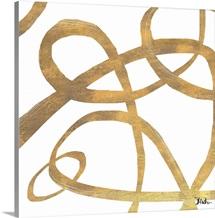 Golden Swirls Square II