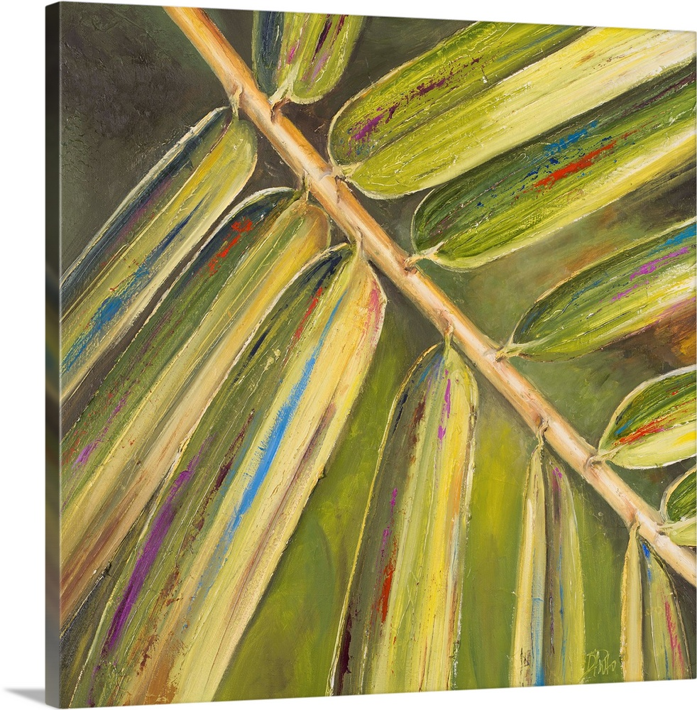 Premium Thick-Wrap Canvas Wall Art entitled Green Close Up I