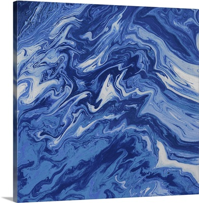 Navy Marble Square
