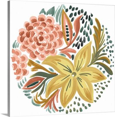 Peachy Matisse Florals I