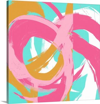 Pink Circular Strokes II