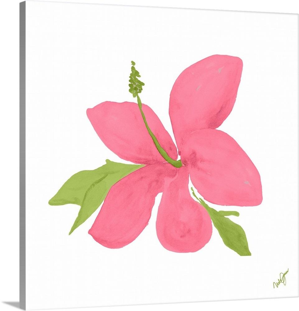 Pink Hibiscus Wall Art Canvas Prints Framed Prints Wall Peels