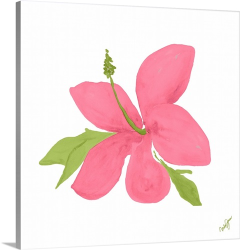 Pink Hibiscus Wall Art, Canvas Prints, Framed Prints, Wall Peels ...