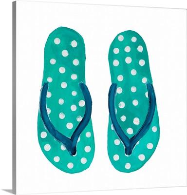 Polka Dot Flip Flops I