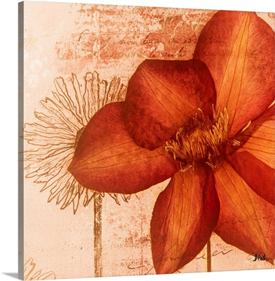 Rouge Pressed Flowers I