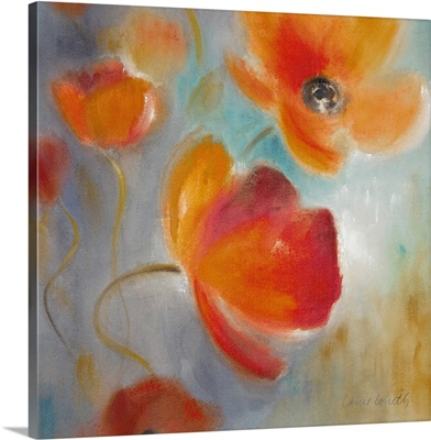 Scarlet Poppies in Bloom I