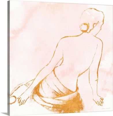 Seated Woman Rose Gold