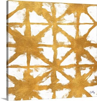 Shibori Gold Square IV