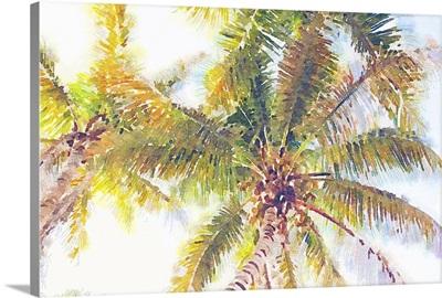 Sideway Watercolor Palms I