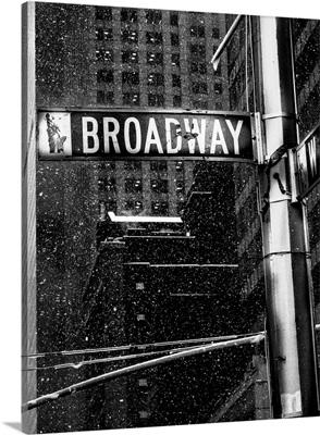 Snow on Broadway