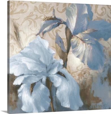 Soft Blue Blooms I