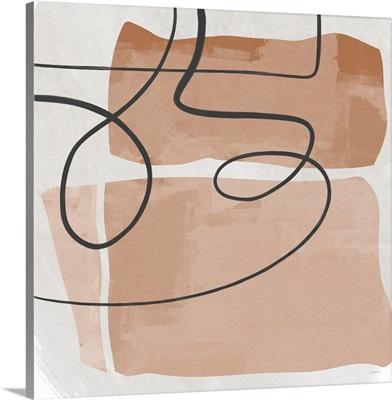 Terracotta Line Design Square