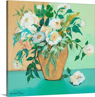 Vase Of White Roses