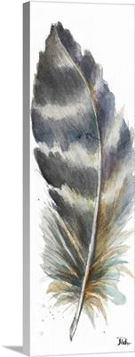 Watercolor Feather White VI