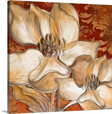 Whispering Magnolia on Red I