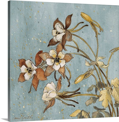 Wild Flowers on Blue II