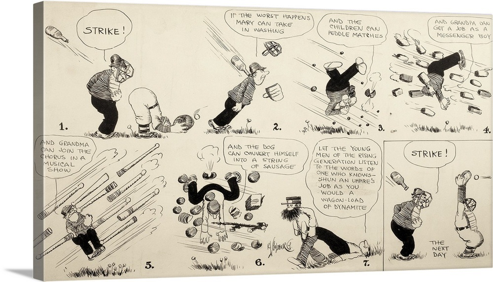 Rube Goldberg Illustration The Baseball Umpire Original Condition