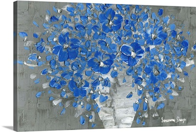 Blue Flowers Contempory Art