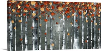 Copper Foliage Birch Tree Landscape