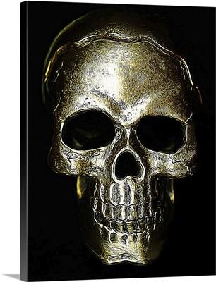 Etched Gold Skull