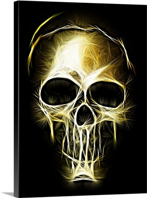 Golden Light Skull