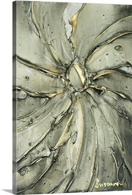 Grey Gold Abstract Art