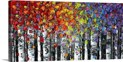 Modern Landscape Abstract Birch Trees